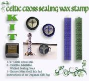 Wax Seal Stamp KIT - Celtic Cross 1.3cm Mini Stamp KIT
