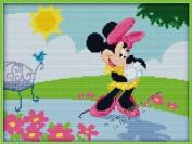 Happy Forever Cross Stitch,Disney cartoon characters, Minnie