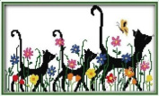 Happy Forever Cross Stitch, Animals cats,Mother and child peers