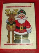 Janlynn Collector's Series Christmas Delights Counted Cross Stitch Kit #41-112 Santa and Reindeer Designed by Maryanne Moreck