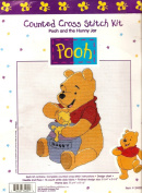 Pooh and the Hunny Jar Counted Cross Stitch Kit
