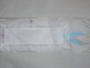 Bookmark to Cross Stitch -- 100% Cotton Lace and 18 Ct. Aida w/ polyester ribbon