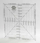 Creative Grids 17cm X 17cm Square It up & Fussy Cut Ruler cgrsq6