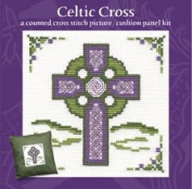 Celtic Cross Picture Cushion Panel Cross Stitch Kit
