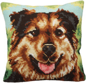 Collection D'art Boulie Pillow Cross Stitch Kit 15 3/4'X15 3/4'