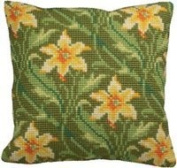 Collection D'art Myrte Gauche Pillow Cross Stitch Kit 15 3/4'X15 3/4'