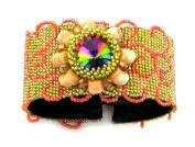 Beads East Sunburst Beaded Needlepoint Bracelet Kit by Ann Benson