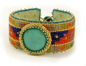 Beads East Cancun Beaded Needlepoint Bracelet Kit by Ann Benson