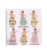 Hula Girl of No.7867 dress LECIEN cross stitch kit _Aloha Stitch Arohasutetchi_