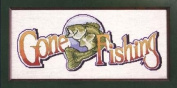 Gone Fishing Counted Cross Stitch Kit 5421