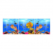 Undersea park 3D Stamped Cross Stitch Kit - 140cm By 48cm