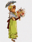 Gabrielle and Parasol Needlepoint Canvas