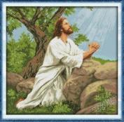 Happy Forever Cross Stitch, Figure, Prayer of Jesus
