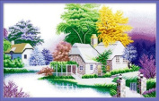 Qishi's Dimensions Needlecrafts Counted Cross Stitch 110cm x 70cm Country Life