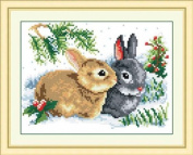 Cute cross stitch embroidery kit rabbit