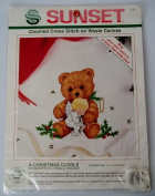 Sunset A Christmas Cuddle Counted Cross Stitch on Waste Canvas Kit #18351