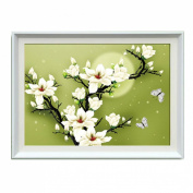 Night Orchids 3d Cross Stitch - 70cm By 50cm