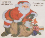 Jumbo Santa with Presents Plastic Canvas Kit by Design Works Crafts