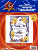 "Looney Tunes : ""Tweety Birth Announcement"" Counted Cross Stitch Kit"