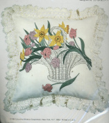 The Accents - A Collection of Bright & Naturals Designed by Martha Gladstone - Crewel Pillow Kit - Brownline Basket