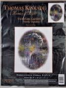 Thomas Kinkade Painter of Light Victorian Garden II Trellis Vignette Cross Stitch Kit