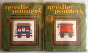 Train Parlour Car & Caboose ~ 2 Embroidery Kits From 1974 ~ By Needle Pointers Fits 13cm X 13cm Frame! Graph Included to Personalise Design!