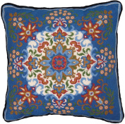 Candamar Designs 30948 Kaleidoscope Style Needle Point Kit, 36cm by 36cm , Blue