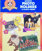 OOP Looney Tunes Plastic Canvas Pattern Leaflet. 14 Magnetic Photo Holder Designs with Tweety; Taz; Daffy Duck; Pepe Le Pew; Bugs Bunny; Marvin the Martian; Sylvester; Wile E. Coyote; Road Runner; Bugs & Lola; Tazmanian Devil