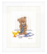 Vervaco Popcorn Bear & Tie Cross Stitch Kit