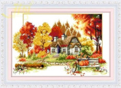 Cross stitch embroidery kit Four Seasons / Autumn