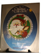 Paragon Needlecraft - The Christmas Collection - Dimensional Applique Hook Kit - Holiday Cheer Featuring Santa Claus and a Reindeer - Designed by Carolyn Larco
