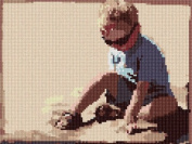 Playing In The Sand Needlepoint Canvas