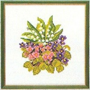 Eva Rosenstand Snowdrops Violet Flowers Counted Cross Stitch Kit #12-888