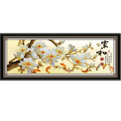 Magnolia blossoms 3D Stamped Cross Stitch Kit - 150cm By 50cm