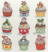 Bothy Threads Christmas Cup Cakes Cross Stitch Kit