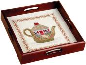 Sudberry House Mahogany Classic Tray 30cm x 30cm 29cm x 29cm Design Area 69001