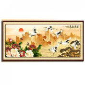The Cranes In Flight 3d Cross Stitch Kit - 140cm By 60cm