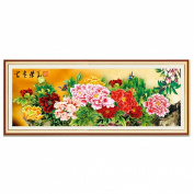 The Prosperity Chinese Peony 3d Cross Stitch Kit - 150cm By 70cm