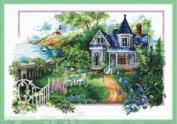 Cross stitch embroidery kit summer villa
