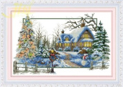 Cross stitch embroidery kit four seasons / winter