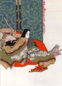 Ukiyo-e Beautiful Woman Cross Stitch Kit 5 - Empress Autumn Lover by Korin