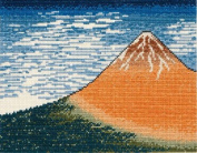 Ukiyo-e Landscape Cross Stitch Kit 2 - Red Mount Fuji