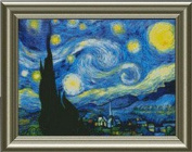 DMC cross stitch embroidery kit Gogh paintings [Starry Night]
