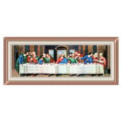 Last supper of Jesus 3D Stamped Cross Stitch Kit - 190cm By 70cm