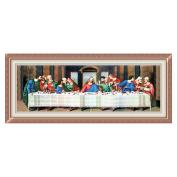 Last supper of Jesus 3D Stamped Cross Stitch Kit - 190cm By 70cm