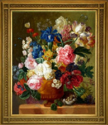 Cross stitch embroidery kit full vase oil painting