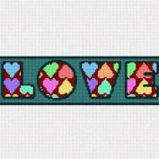 Love Hearts Needlepoint Canvas