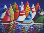 Art Needlepoint Colourful Sail Needlepoint Canvas by Renie Britenbucher