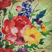 Art Needlepoint Patio Peony Needlepoint Canvas by Paul Brent