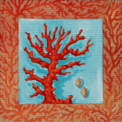Art Needlepoint Red Coral Needlepoint Kit by Paul Brent